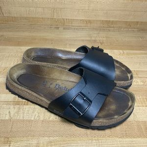 BIRKENSTOCK BETULA BLACK ONE STRAP SANDALS 41